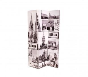 05977 Biombo de madera modelo Berlín 120 x 180 cm con tres paneles
