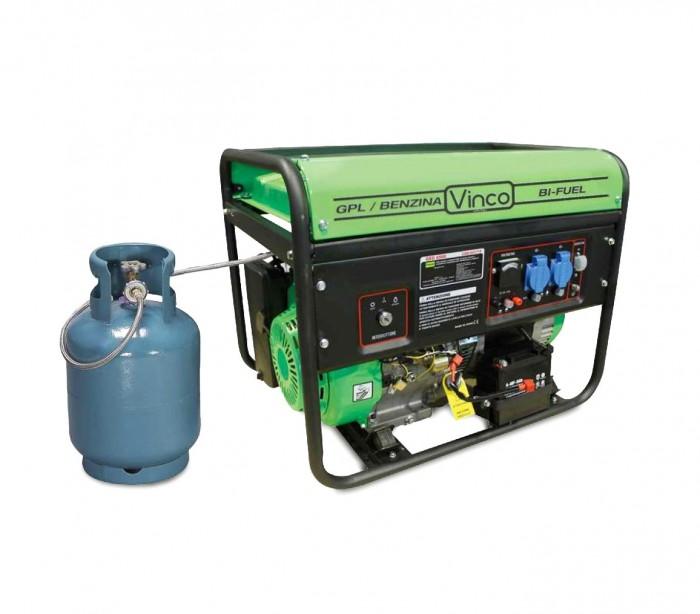 60173 generador de corriente bifuel glp gasolina vinco 5 - Generador electrico a gas butano ...