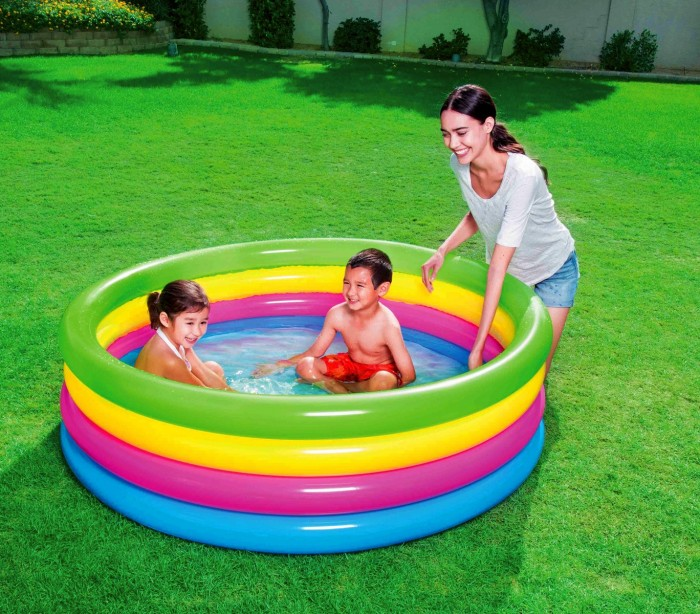 51117 piscina inflable de arcoiris bestway 4 anillos 157 x for Piscina inflable bestway