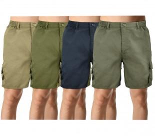Q186 Bermuda para hombre mod. ENEA color liso con bolsillos laterales M a XXXL