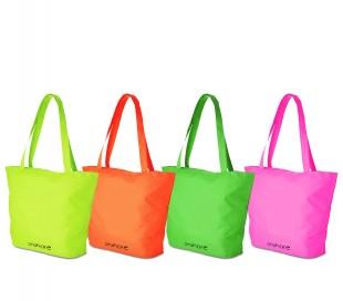 382509 Bolso de playa para mujer Onshore colores FLUO doble asa y cierre zip