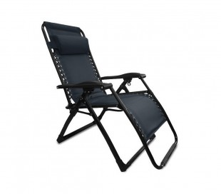 3852022 Set de 2 sillas plegables y reclinables COVERI COLLECTION color Negro