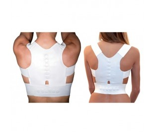 Faja soporte de apoyo con 12 imanes postura corrección unisex espalda hombros
