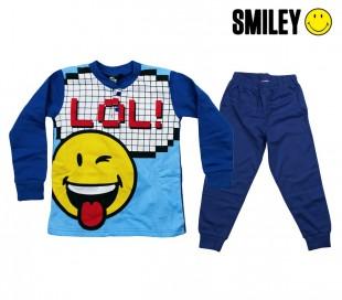 SM16-125D Pijama de algodón para niños SMILEY tallas de 3 a 7 años