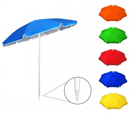 374016 Sombrilla para playa o jardín ONSHORE en varios colores 90/8 ø 32
