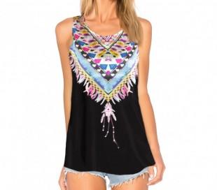 3908 Camiseta para mujer ELENA estampado de colores tallas de la S a la XL