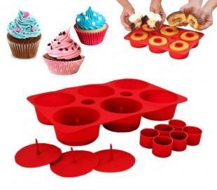Cupcake secret molde para pasteles muffin buñuelos silicona