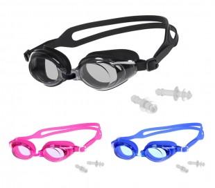 250464 Set de gafas para bucear regulables y tapones para los oídos de 4 cm