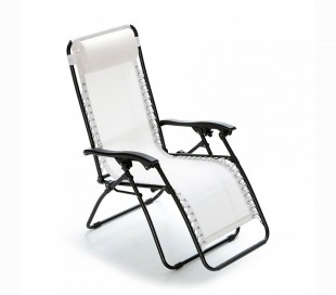 3852021 Set 4 hamacas plegables totalmente reclinables COVERI COLLECTION -Blanco