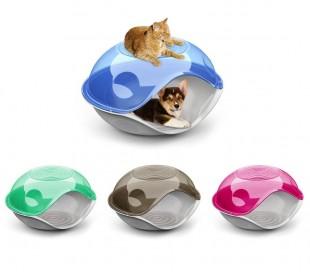 20104 Casita de plástico para perros y gatos DUCK PLAIN en varios colores