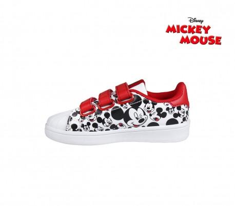 2605 Niños Mickey Velcro Deporte Mouse Zapatillas 23 De Cierre Para 7fb6Yyg