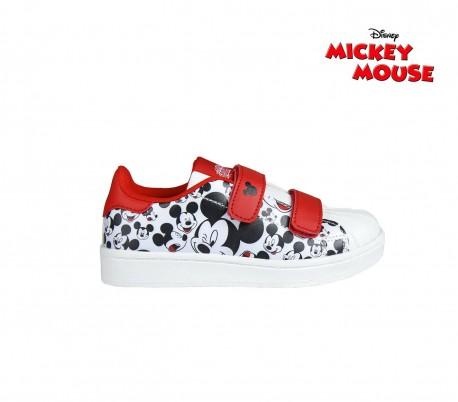 Cierre De Para Mickey Deporte Niños 23 2605 Zapatillas Mouse Velcro 4ARj35L