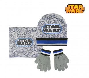 22-2540 Pack 3pz completo para invierno motivo STAR WARS Gorro guantes y bufanda