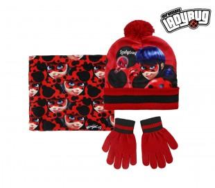 22-2541 Pack 3pz completo para invierno motivo LADY BAG Gorro guantes y bufanda