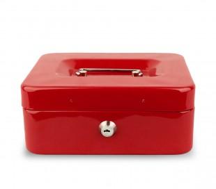 748794 Caja de seguridad con llave y 8 compartimentos para monedas 20x8x16 cm