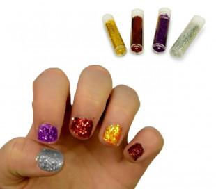 341056 Set de nail art party MAGIC NAILS con 2esmaltes y muchos acceorios