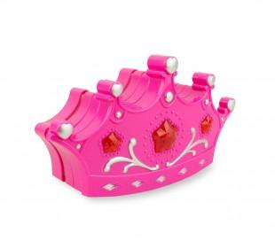 257395 Cajita de maquillaje en forma corona FASHION CORONA para niñas 3 niveles