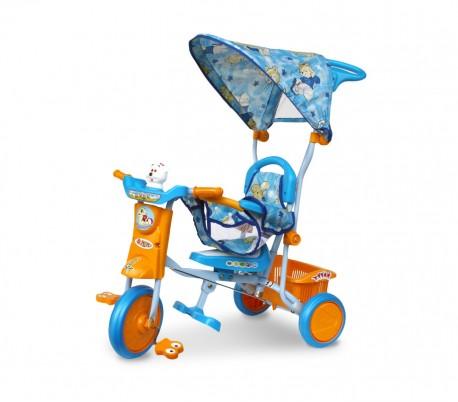 TS43 Triciclo de empuje con pedales y capota SCHIANO con protección anti-caída