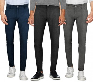 D1126 Pantalón chino 3-D JEANS para hombre mod. Ross talla de la 44 a la 54