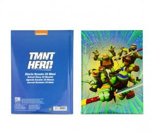 904928 Agenda 10 meses para el colegio TURTLES TMNT HERO NICKELODEON para niños