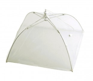 4349 Funda de paraguas en color blanco transparente para tapar la comida 40x28cm