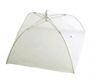 4349 Funda en forma paraguas en color blanco transparente para tapar la comida
