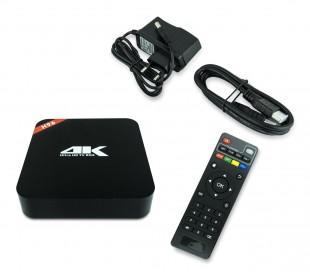 H96 4K HD Smart Box TV Android 5.1 64 Bit con mando y cable HDMI incluido