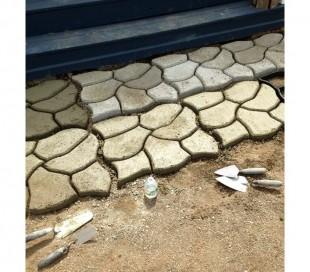 4371 Matríz para cemento molde para pavimentos de jardín 42,5 x 42,5 cm