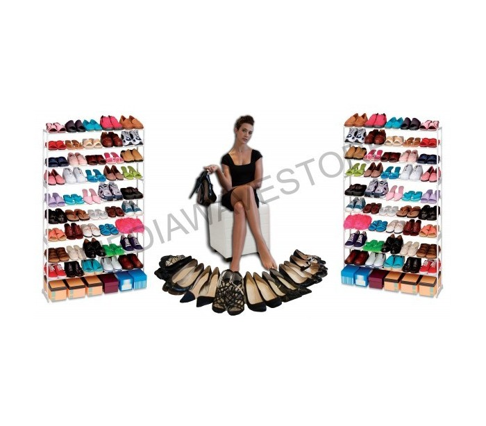 Zapatero 50 pares de zapatos organizador del armario para for Armario para zapatos
