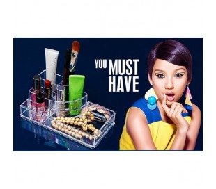 Organizador cosmetica maquillaje joyero de plástico transparente con cajones