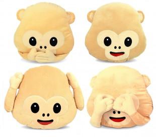 347621 Almohada mono emoticon No veo - No oigo - No hablo - Sonrisa 36 cm