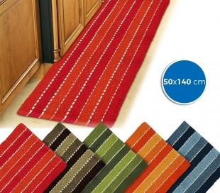 184028 Alfombra mod. STRIPES 50 x 140 cm 100% algodón para baño y cocina