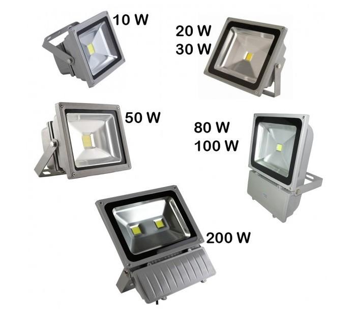 Foco proyector led de alta luminosidad de luz calida 3000k - Luz led exterior ...