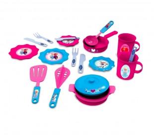 087053 Juego de té DISNEY FROZEN con 15 fantásticos accesorios Anna y Elsa