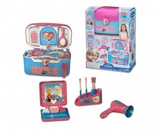 087121 Maletín de belleza para niñas DISNEY FROZEN portátil con 21 accesorios