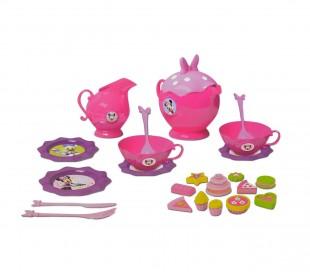 084229 Juego para servir el té MINNIE para niñas con 35 accesorios y dulces