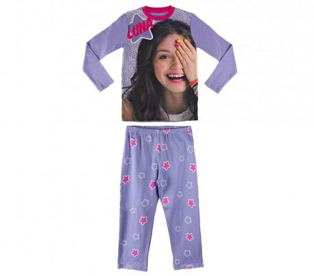 95a34a67a 22-1722 Pijama de manga larga para niña SOY LUNA DISNEY tallas 6-8-10-