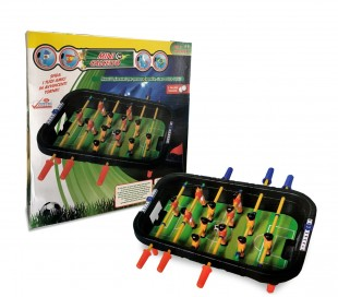100424 Mini futbolín de mesa con 12 jugadores 6 listones y bolas incluidas