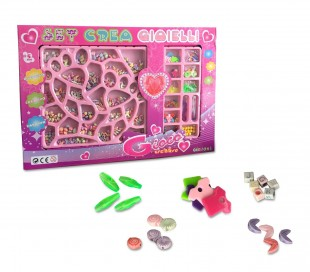 163887 Set crea joyas CIGIOKI divertido y cretivo perlas de plástico en colores
