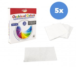 627326 Pack de 5 paquetes de toallitas absorbe colores para la lavadora 60 unid
