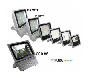 Foco LED medida SLIM luz FRIA 6500k para exteriores IP 65 en varias potencias
