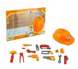 334294 Playset herramientas de trabajo CIGIOKI sombrero y 15 accesorios