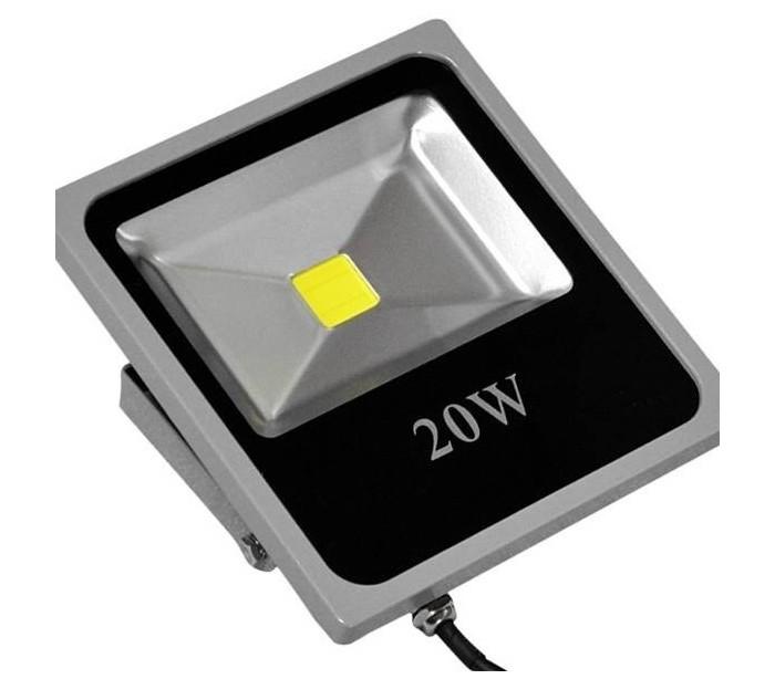 Foco led medida slim luz fria 6500k para exteriores ip 65 for Luz de led para exterior