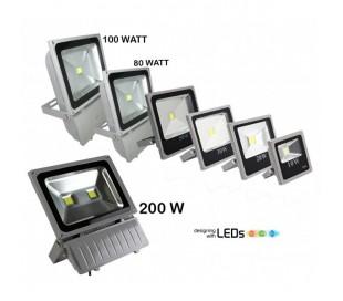 Foco LED medida SLIM luz calida 3000k para exteriores IP 65 en varias potencias
