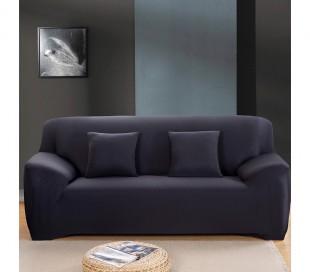 4352 Funda para sofá de dos plazas color liso y tela elástica muy fácil de poner