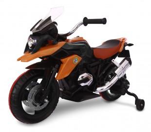 LT 873 Moto de carreras para niños Flower eléctrica 12V con luces LED en ruedas