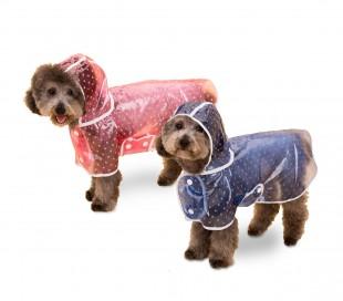 4494 Impermeable para perros y gatos medianos con gorro para la lluvia