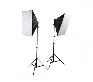 4499 Set softbox photography dos stand con 10 lámparas de 45 vatios y gabinete