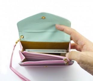 Monedero bolsillo custodia cartera iphone 4/4s/5 Samsung galaxy SII / SIII