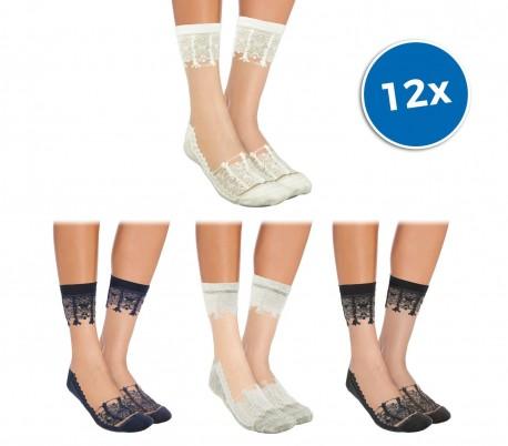 a8a1caf56 W-8008 Pack de 12 pares de calcetines para mujer mod. LADIES fantasía de